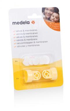 2 ventily vč. 6 bílých membrán Medela