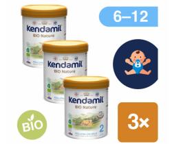 3x BIO pokračovací mléko 800 g DHA+ Kendamil Nature 2