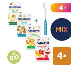 4x kaše Kendamil Organic Bio mix + lžička Nuk zdarma