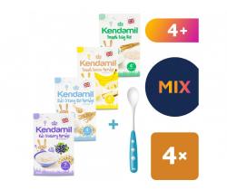4x kojenecké kaše 100 g Kendamil + Lžička Nuk zdarma