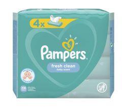 4x Vlhčené ubrousky Pampers Fresh Clean 52 ks