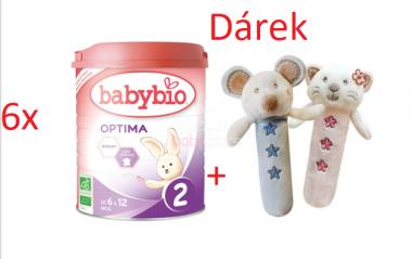 6x Babybio Optima 2 900g + Dárek