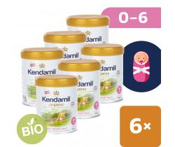 6x BIO plnotučné kojenecké mléko 800 g DHA+ Kendamil Organic 1