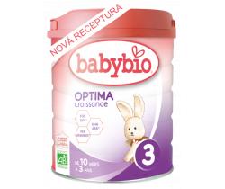 6x Kojenecké Bio mléko Babybio Optima 3 Croissance 800 g