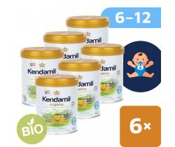 6x BIO plnotučné pokračovací mléko 800 g DHA+ Kendamil Organic 2