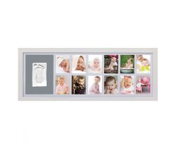 Sada pro otisk Adora  Nástěnný rámeček pro 12 fotografií Bílá