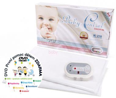 Monitor dechu se dvěma senzorovými podložkami Baby Control Digital BC-210