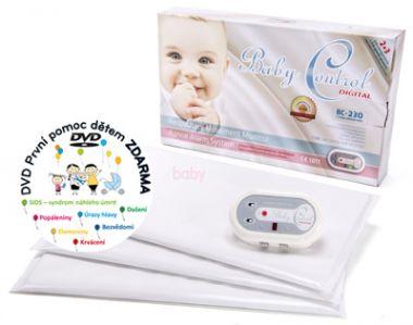 Monitor dechu se třemi senzorovými podložkami Baby Control Digital BC-230