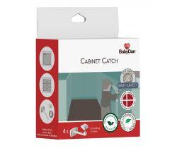 Pojistka pro dveře zásuvek a skříní 4 ks Baby Dan Cabinet Catch, BIO