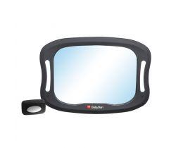 Nastavitelné zpětné zrcadlo do auta s LED osvětlením Baby Dan