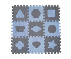Hrací podložka puzzle 90x90 cm Baby Dan Geometrické tvary