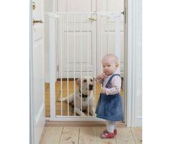 Vysoká zábrana 73-86 cm bílá BabyDan Premier PET GATE