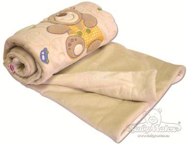Baby Matex Magic deka z plyše s aplikací 75 x 100 cm