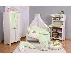 Baby Matex Medvídek povlečení plyšové-Zelené doprodej