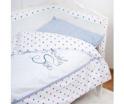 Baby Matex Twinkle Star bavlněné povlečení modré s hvězdičkama