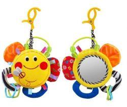 BabyMix Sluníčko plyšová hračka se zrcátkem
