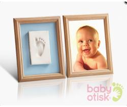 Baby Otisk sada pro otisk s barevnýma paspartami ružovo-modrá