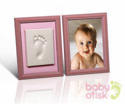 Baby Otisk sada pro otisk s barevnými rámečky-růžová
