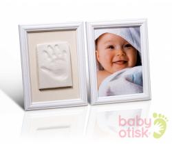 Baby Otisk sada pro otisk s barevnými rámky-bílá