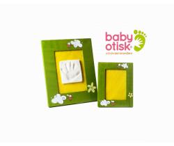 Baby Otisk sada pro otisk s ručně malovaným ráme a rámečkem na foto-zelená