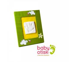 Baby Otisk sada pro otisk s ručně malovaným rámečkem-zelená