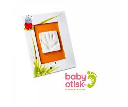 Baby Otisk sada pro otisk s ručně malovaným rámem-bílá