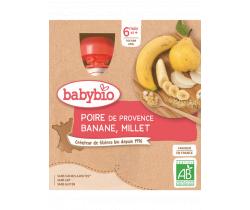 Babybio Doypack hruška banán proso 4 x 90g