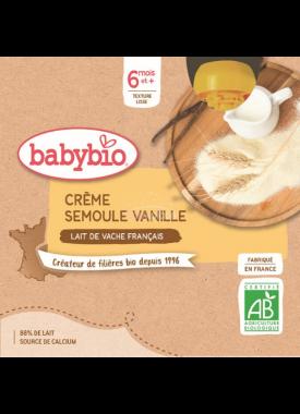 Babybio Doypack krupička s vanilkou 4x85g