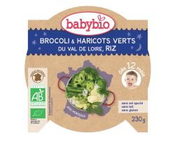 Babybio Good Night menu brokolice s fazolky a rýží 230g