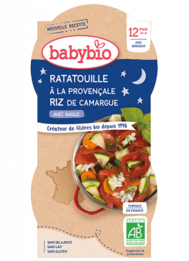 Babybio Good Night menu ratatouille po provensálsku s rýží 2 x 200g