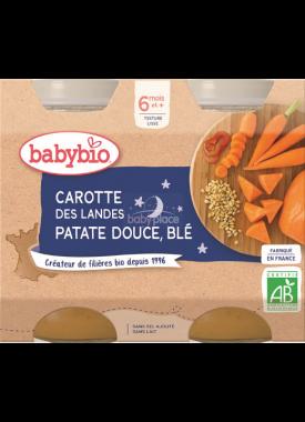Babybio Good Night menu zeleninová směs s pšenicí 2 x 200g