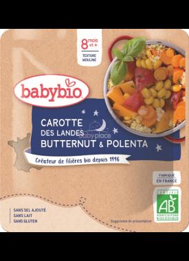 Babybio Good Night mrkev s máslovou dýní a polentou 190g
