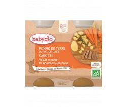 Babybio menu brambory a mrkev s telecím masem 2 x 200g