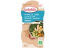 Babybio menu brambory a špenát s lososem a rýži 2 x 200g