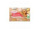 Babybio ovocný příkrm broskev, jablko 2 x 130g