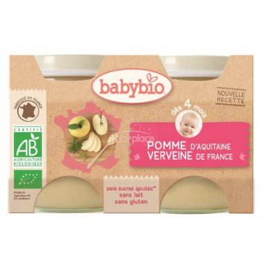 Babybio ovocný příkrm jablko verbena 2 x 130g
