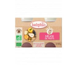 Babybio ovocný příkrm ovocná směs 2 x 130g