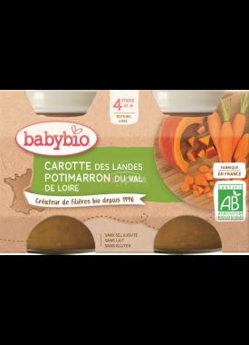 Babybio zeleninový příkrm mrkev, dýně 2 x 130g