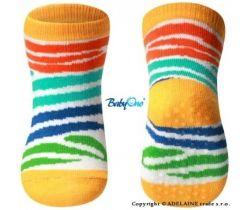 BabyOno 589/02 bavlněné protiskluzové ponožky 6m+