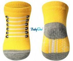BabyOno bavlněné protiskluzové ponožky 0+ 587/02