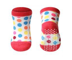 BabyOno bavlněné protiskluzové ponožky 0+ 587/03