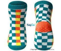 BabyOno bavlněné protiskluzové ponožky 12m+