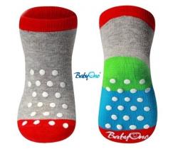 BabyOno bavlněné protiskluzové ponožky 6+ 571/01