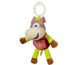 BabyOno Koník hrající plyšová hračka s klipem