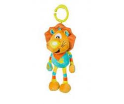 BabyOno Lvíček hrající plyšová hračka s klipem