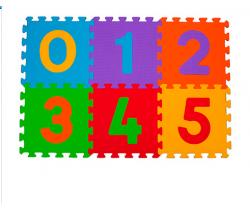 BabyOno pěnové puzzle čísla 6 ks Nr. Kat. 275