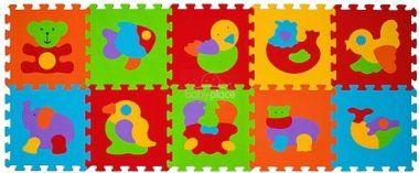 BabyOno pěnové puzzle zvířatka 10 ks Nr. Kat. 276
