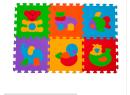 BabyOno pěnové puzzle zvířatka 6 ks Nr. Kat. 277