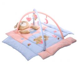 BabyOno Růžový méďa hrací deka