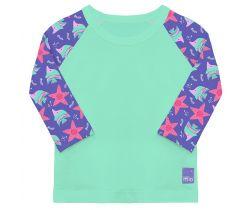 Dětské tričko do vody s rukávem UV 50+ Bambino Mio Violet